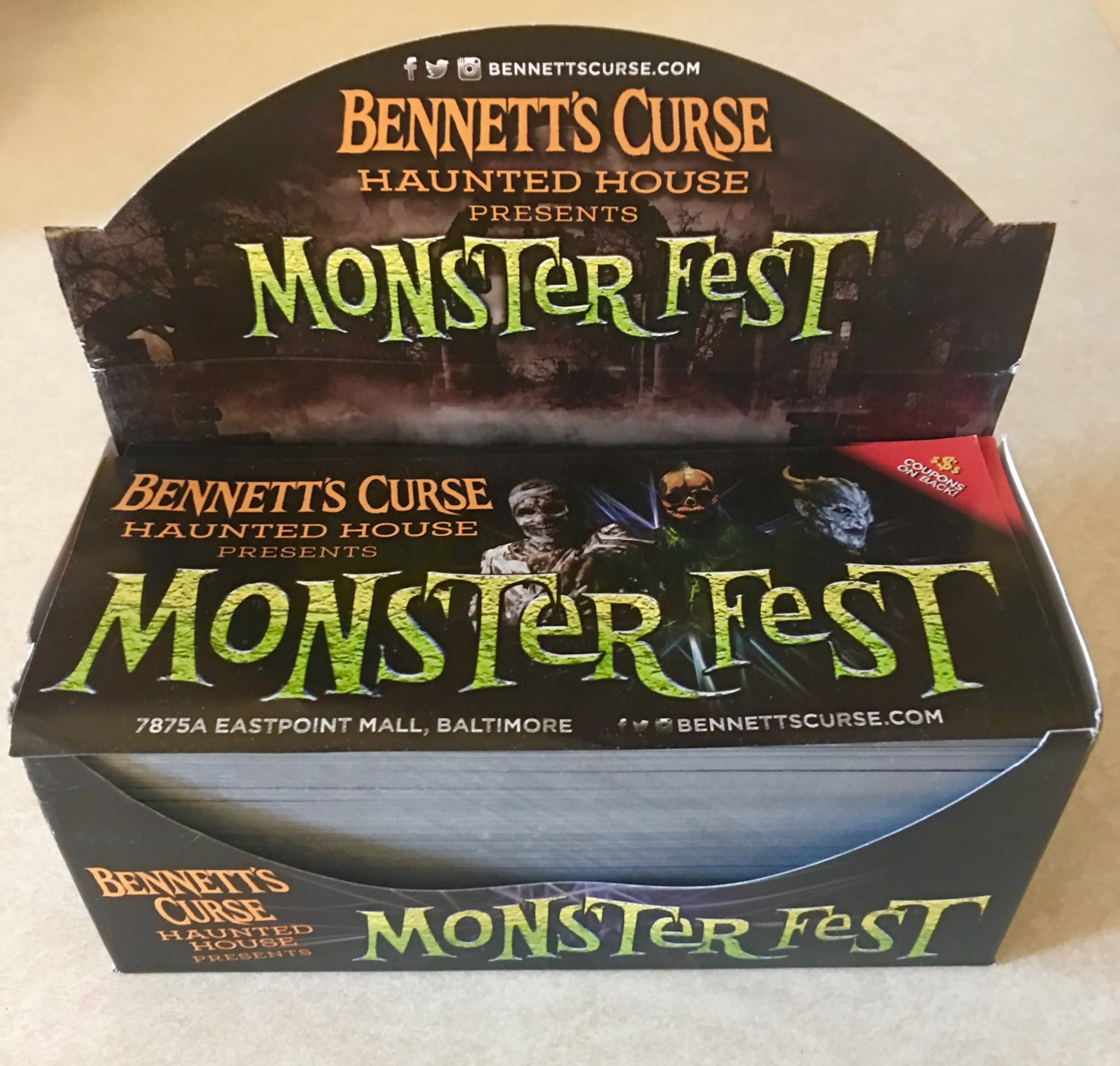 bennetts curse haunted house coupon